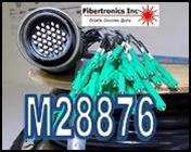 M28876 Fiber Optic Cable assemblies for Navy Shipboard and mil connector applications. (TFOCA)